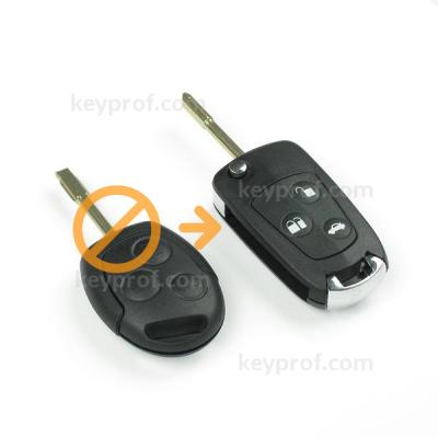 Ford 3-button flipkey shell