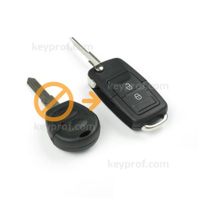 Skoda 2-button flipkey shell